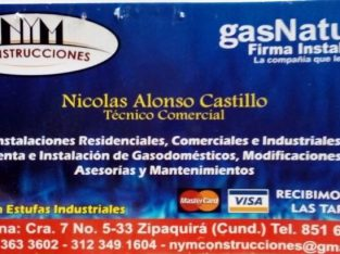N Y M CONSTRUCCIONES GAS NATURAL